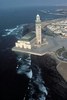The Hassan II Mosque, Morocco, Casablanca Mosque Architecture, Art And Architecture, Marrakech, Beautiful Mosques, Morocco Travel, Place Of Worship, Moorish, North Africa, Kirchen