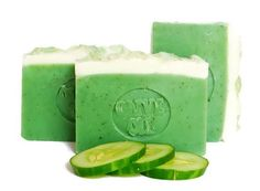 Cucumber Mint Soap  olive oil soap  all natural by AromaScentsLLC
