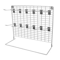 This hook display with 12 Euro hooks is a great way of displaying a range of products to your customers as a counter