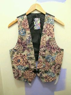 Romanic floral ( tapestry ) vest. Had it.  G;)