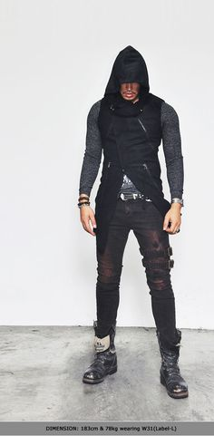Bottoms :: Jeans :: Belted Rebel Grunge Red Slim Biker-Jeans 152 - Mens Fashion Clothing For An Attractive Guy Look