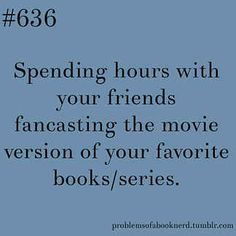 Spending hours with your friends fan casting the movie version of your favorite books/series.- 19 Problems Only Book Nerds Understand Rash Baysinger Outander series right ladies? I Love Books, Good Books, Books To Read, Big Books, Book Memes, Book Quotes, Game Quotes, Book Of Life, The Book