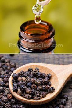 La pimienta negra tiene propiedades beneficiosas para la salud, sobretodo su aceite esencial. #salud #saludable