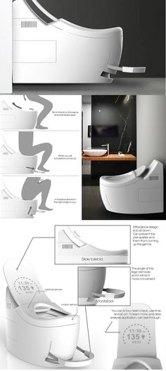 The #Slide #toilet is named for the #unique sliding action of its lid that's…