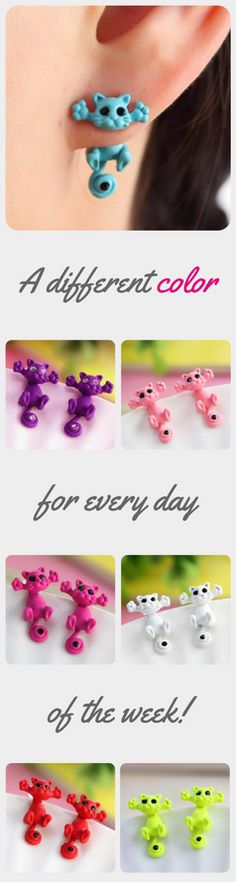 Colorful Cat Earrings, Buy One Get One Free Offer. Only Available For A Limited Time!