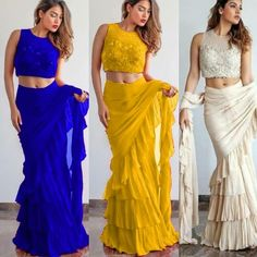 Ruffle saree for party and wedding  Available at mongoosekart.com For details / order please dm or Whatsapp on +919898549185 . . . #hotdeal #bridesmaids #bridallengha #punjabisuit #weddingfashion…