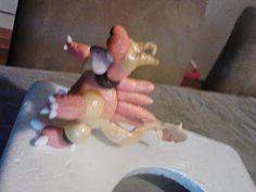 Magmar pokemon cake fondant figurine