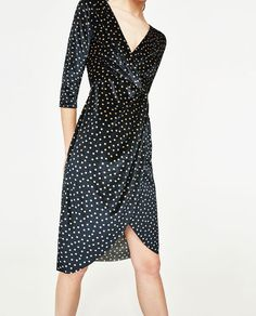 ZARA - COLLECTION SS/17 - POLKA DOT DRESS WITH CROSSOVER NECKLINE