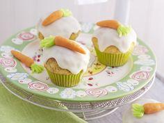 Möhren-Cupcakes - smarter - Kalorien: 259 Kcal - Zeit: 30 Min. | eatsmarter.de Passend zu Ostern