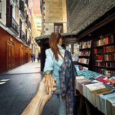 #followmeto Madrid. Russian photographer Murad Osmann and his girlfriend Nataly Zakharova.