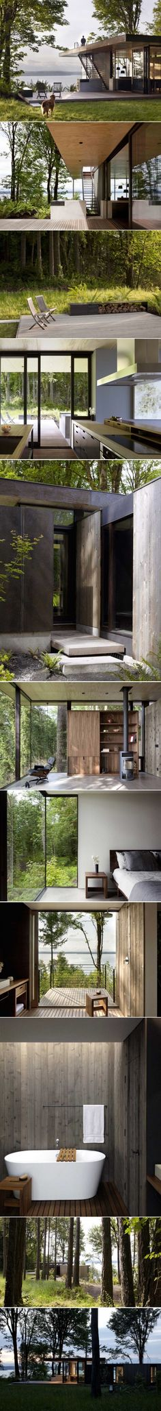 Architect Visit: A Puget Sound Cabin That Rests Lightly on the Land: Gardenista