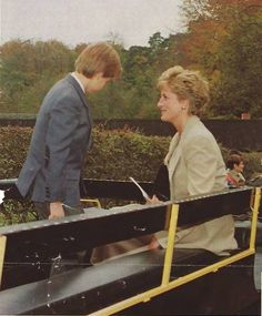 October 27, 1993: Princess Diana with Prince William during a visit to Cardiff.