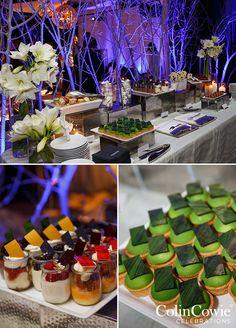 Wedding dessert station, Winter Wonderland Utah Wedding