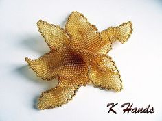 Beaded brooch orchid by katena123 on Etsy