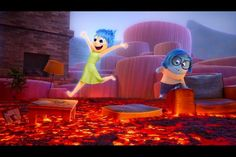 Pixar's Inside Out: Amazing Family Movie Perfect For Tweens - Joy and Sadness