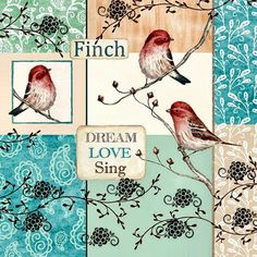 Decoupage Images: Birds