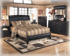 Harmony Contemporary Dark Brown Wood Master Bedroom Set