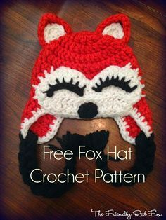Love this beautiful foxy lady crochet hat! and it is a FREE pattern!