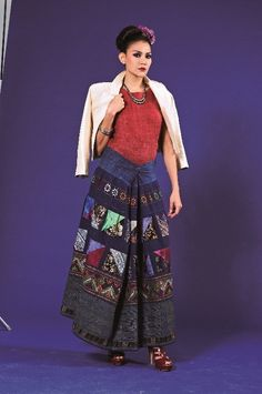 boho tribal vintage tribal textile skirt