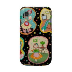 Groovy retro samsung galaxy s phone case