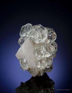 Fluorite on Calcite - Huanggang Mines, Hexigten Banner, Inner Mongolia Autonomous Region, China