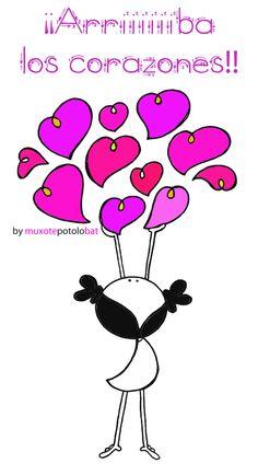 Arriba los corazones
