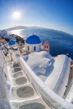 Steps in Oia, Santorini, Greece
