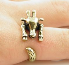 Gold Giraffe Wrap Ring - SIZE 7 | Wrapped - Jewelry on ArtFire