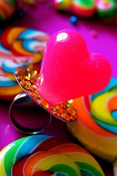 Pink Heart Ring Pop Ring by athinalabella1, via Flickr