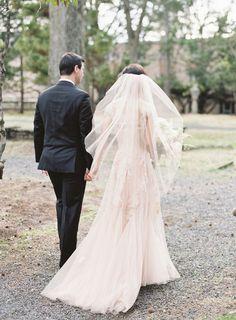 Dreamy tulle wedding veil: http://www.stylemepretty.com/2015/11/10/elegant-alder-manor-wedding/ | Photography: Judy Pak - http://judypak.com/
