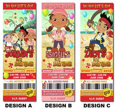 Jake+and+the+Neverland+Pirates+Invitation++by+Uprintparty+on+Etsy,+$10.00