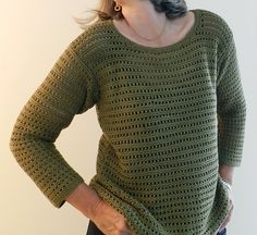 Ravelry: Project Gallery for Eyelet mesh pullover pattern by Michelle Porter