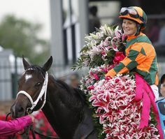 Jockey Rosie Napravnik became the first female jockey to win the Kentucky Oaks when she piloted Believe You Can to victory at Churchill Downs on May 4th, 2012.