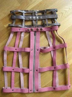 leather soft cage skirt @Angela Rosenau