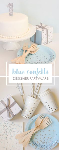 One of our best-selling collections, Blue Confetti, is perfect for your birthday or baby shower celebration. Our partyware is made from sturdy, heavy board stock in a quality matte finish. Best First Birthday Gifts, Baby Birthday, First Birthday Parties, First Birthdays, Birthday Cake, Birthday Ideas, Birthday Crafts, Baby Shower Themes, Baby Shower Decorations