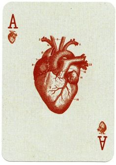 carta coração, copas