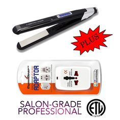 Digital Dual-Voltage Titanium Flat Iron 1 w/ FREE International Adapter *** This is an Amazon Affiliate link. See this great product.