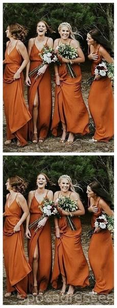 Apr 2020 - Spaghetti Straps Burnt Orange Cheap Bridesmaid Dresses Online, – LoverBridal Burnt Orange Bridesmaid Dresses, Cheap Bridesmaid Dresses Online, Mismatched Bridesmaid Dresses, Wedding Bridesmaid Dresses, Burnt Orange Dress, Cheap Dresses, Bridesmaid Outfit, Orange Wedding Dresses, Bride Maid Dresses