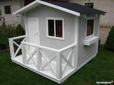 Znalezione obrazy dla zapytania domek drewniany dla dziecka