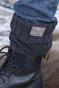 Barfota Love Norway strikket ullsokk, mørk grå