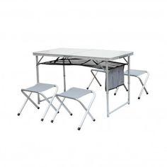 Table pliante + 4 tabourets Otano