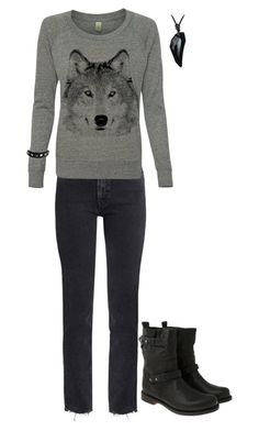 """""""Raw Hem Jeans"""" by xx-fallen-angels-xx ❤ liked on Polyvore featuring M.i.h Jeans, Valentino and rag & bone"""