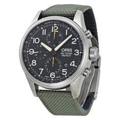 Oris Big Crown ProPilot Chronograph Black Dial Green Textile Men's Watch 774-7699-4134FSGR - Oris - Shop Watches by Brand - Jomashop
