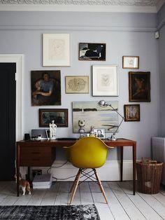 Home Office com piso branco
