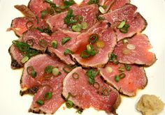 Whisky Green Tea: Beef Tataki with Ponzu Sauce