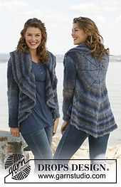 "Ravelry: 134-5 ""Modern Elegance"" - Jacket worked in a circle pattern by DROPS design"