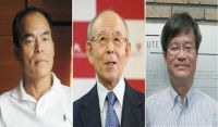 Three Japanese-born researchers on Tuesday won the Nobel Prize for Physics for inventing the LED lamp, a boon in the fight against global warming and aiding people in poverty. The trio are Isamu Akasaki, Hiroshi Amano and Shuji Nakamura, who has since become a U.S. national.