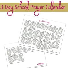 Praying Scripture is a powerful weapon we have to fight off anxiety and fear in the unknown. This prayer calendar for the school year is Scripture based and includes 31 days of prayer that can customized and adapted for any school situation from public, private or homeschool. Download your free prayer calendar today and commit to praying every single day of the new school year!