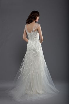 crystal beaded tulle gown (back)