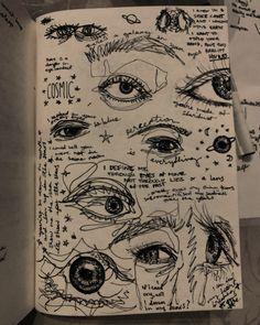 Arte Grunge, Grunge Art, Indie Drawings, Art Drawings Sketches Simple, Dark Art Illustrations, Doodle Drawings, Art Journal Inspiration, Art Inspo, Arte Peculiar